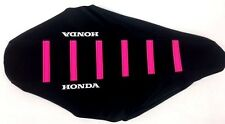 New PINK HONDA Ribbed Seat cover CR80 CR85 1996-09