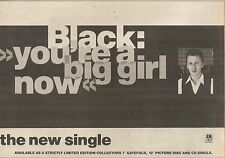 19/11/88PN15 ADVERT: BLACK YOURE A BIG GIRL NOW SINGLE 0N A& M 7X11