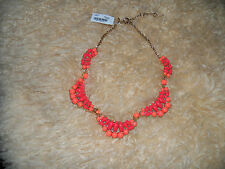NWT Statement  Paris Runway J.Crew  faux coral collar necklace
