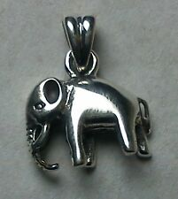 ELEPHANT 925 STERLING SILVER PENDANT 1.2 cm WITH LEATHER NECKLACE & GIFT BOX