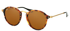 Ray-Ban RB 2447 1160 Spotted Brown Havana Round Fleck Sunglasses Brown Lens 49mm
