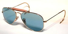 RAY BAN 3030 58 OUTDOORSMAN GOLD ORO PERSONALIZZATO LIGHT BLUE CELESTE REMIX