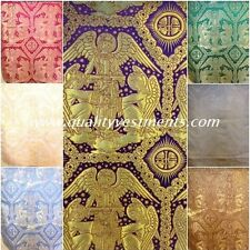 Church Liturgical Liturgical Vestment Metallic Brocade Trinity Angels Gold Red