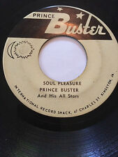 "RARE REGGAE PROMO 45/ PRINCE BUSTER & ALL STARS ""SOUL PLEASURE""    HEAR"