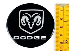 "DODGE *4 x NEW* Emblems 55mm (2 3/16"") WHEEL CENTER CAP STICKERS 3D DECALS"