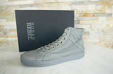HOGAN REBEL TAGLIA 45 11 High-Top Sneakers normalissime scarpe GREY NUOVO UVP 298 €