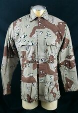 Burk Camo Camouflage Jacket Medium USA Army Hunting Outdoor Gear Vintage