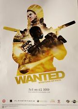 WANTED WEAPONS OF FATE VIDEOGAME RARE NEW DOUBLE-SIDED PROMO POSTER