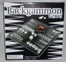 Jeu de Backgammon en verre - Plateau de 25 * 25 - 30 pions - 5 dés
