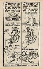 Y9456 Cycles AUTOMOTO - Pubblicità d'epoca - 1925 Old advertising