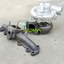 for Lexus Toyota 2JZ-GTE T4 Oil cold Turbo AR0.80 / 0.68+T4 CAST Turbo Manifold