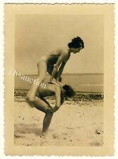 Nudism nude Couple on Beach/photoshoppare COPPIA NUDISTI * VINTAGE 50s amatoriale Photo #3
