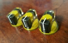 20 JAT Pointer Knobs With Set Screw, Fits Guitar Amps and Pedals... Yellow/Black