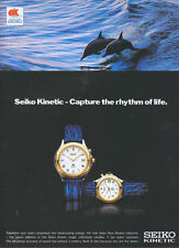 Seiko Kinetic Watch 1995 Magazine Advert #4100