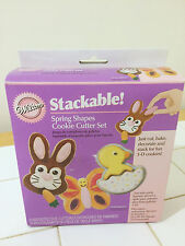 Wilton Stackable Cookie Cutter Set Spring Shapes Bunny Rabbit Chick Butterfly