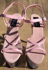 """�� High Heel Clear 6"""" STILETTOS Platform Shoe By PLEASER STRIPPER SEXY EXOTIC"""