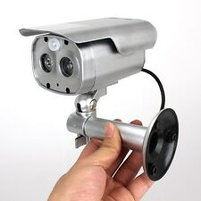 Solar Powered Human Sensor Home Security Fake Dummy Camera CCTV Record Light