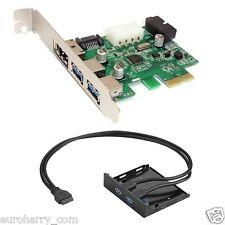 2 puertos USB 3.0 eSATA SATA 20 pin PCI-e PCI Express card + 3.5 disco flexible front panel