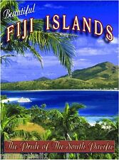 Fiji Islands Island South Pacific Beach Ocean Travel Advertisement Art Poster