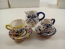 Miniature Tea cups cup and saucer pitcher
