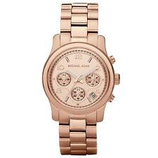 Michael Kors Ladies' Woman's Rose Gold Runway Chronograph Designer Watch MK5128