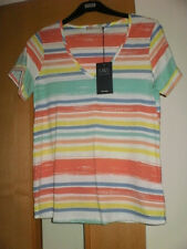 M & S T-shirt with linen stripe BNWT Size 20