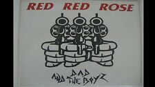 Dad And The Boys RED RED ROSE 1980's PUNK ROCK  LP Vinyl Disc RECORD