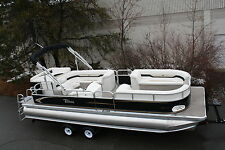 New 24 ft triple tube pontoon boat with high performance tubes.