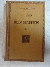 Escriptors Grecs,Dels Beneficis II Seneca,F.Bernat Metge 1954