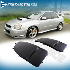 For 04-05 2004-2005 Subaru Impreza WRX STI Front Bumper Fog Lights Lamps Covers