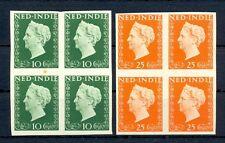 NED INDIE 1948 # 345/46  IMPERF PROOF 4 x -CERTIFICAAT-NO GUM AS ISSUED F/ VF
