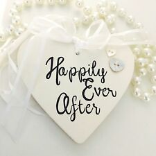 Happily Ever After Charm - Personalised Good Luck Heart Charm - Wedding Day