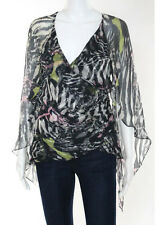 Carlos Miele Multi Color 3/4 Sleeve Wrap Blouse Size 38