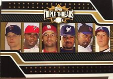 2008 Topps Triple Threads Pujols Morneau Howard Fielder Delgado Relic Book #d/27