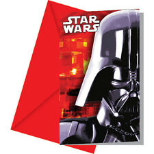 CLASSIC STAR WARS PARTY INVITATIONS X 6 DARTH VADER INVITES BIRTHDAY