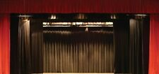 New 13H X 13W  Fire Retardant  Black Backdrop/Stage Curtain - Other sizes