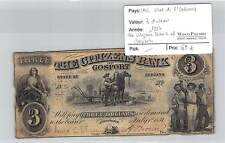 BILLET USA -CITIZEN BANK OF GOSPORT - 3 DOLLARS 1857 - STATE OF INDIANA