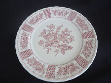 churchill china england red melody georgian collection large round platter plate