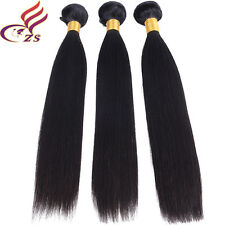 3 bundles/150g  Straight 100% Virgin Brazilian Real  Human hair extensions
