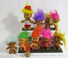 Vintage Lot of 11 TROLL DOLLS Mixed Lot of Styles  FUN
