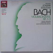 CHRISTIAN FERRAS/YEHUDI MENUHIN BACH Violinkonzerte Nr 1-3 GERMANY EMI EX/VG+