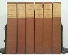 1906~WAVERLY NOVELS~Sir. Walter Scott~Antique Red/Brown 6 Book Lot~Old Set