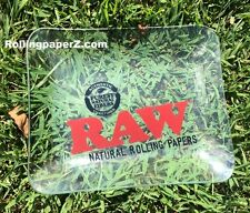 "NEW! Raw® Rolling papers - Limited Edition - GLASS ROLLING TRAY 13"" X 11"" - RARE"