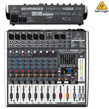 Behringer Xenyx X1222USB 12-Ch USB Audio Interface Mixer NEW l Authorized Dealer