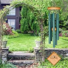 """Woodstock CHIMES OF MERCURY 14"""" VERDIGRIS WIND CHIMES, 5 Approximately 7"""" Tubes"""