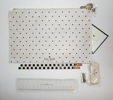 New Kate Spade Pencil It In Pouch Case Polka Dots School Supplies Ivory 154355