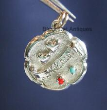 """Romantic Sterling Silver """"Happy Anniversary"""" Puffy Hearts Love Charm"""