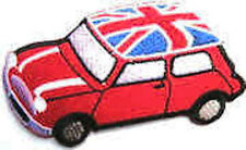 Iron On/ Sew On Embroidered Patch Badge Mini Union Jack Roof Cooper Red