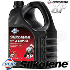 Silkolene PRO 4 10w-60 Full Synthetic Ester 4T Bike Engine Oil 10w60 - 4 LITRES
