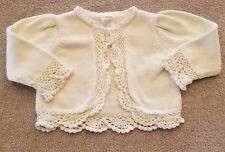 SWEET! GYMBOREE 0-3 MONTH CREAM LACE SWEATER REBORN